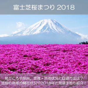 富士芝桜まつり2018の見頃や見どころは?混雑や渋滞の状況と回避方法も紹介!