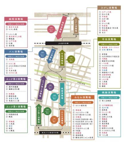 高円寺阿波踊り2018の人気連や有名連の運行表は?屋台や桟敷席の場所はどこ?