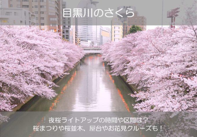 中目黒や目黒川の桜祭り2019のライトアップ時間は?屋台やクルーズはどこ?