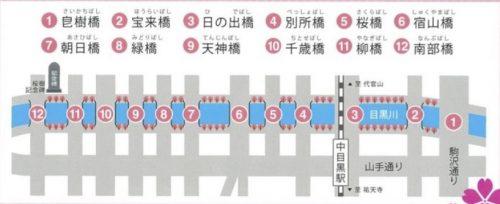 中目黒や目黒川の桜祭り2018のライトアップ時間は?屋台やクルーズはどこ?