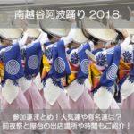 南越谷阿波踊り2018の参加連まとめ!前夜祭と屋台の出店場所や時間もご紹介!