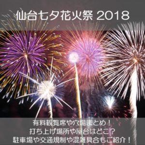 仙台七夕花火祭2018の有料観覧席や穴場まとめ!打ち上げ場所や屋台はどこ?